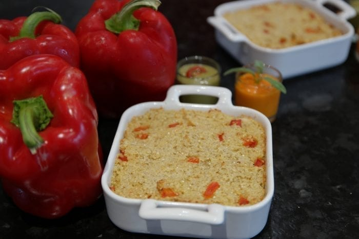 gratin de quinoa aux poivrons