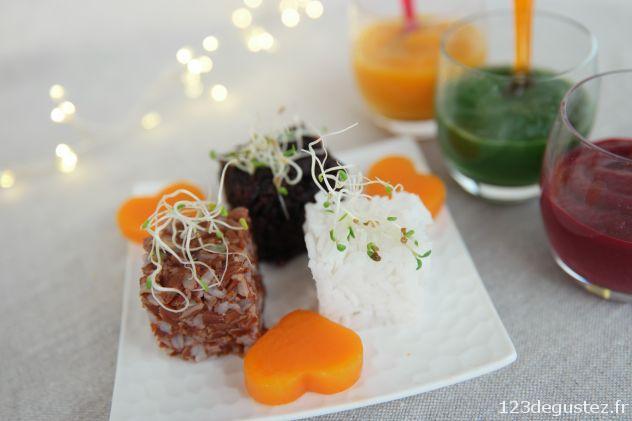 trilogie de riz au 3 coulis saint valentin