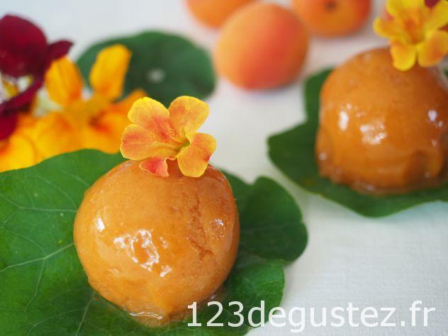 sorbet maison abricot lavande