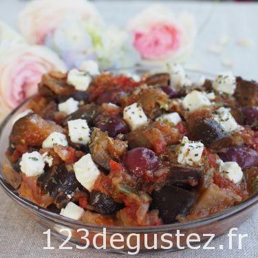 salade aubergine à la grecque