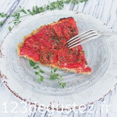 tarte tomate, moutarde au petit épeautre