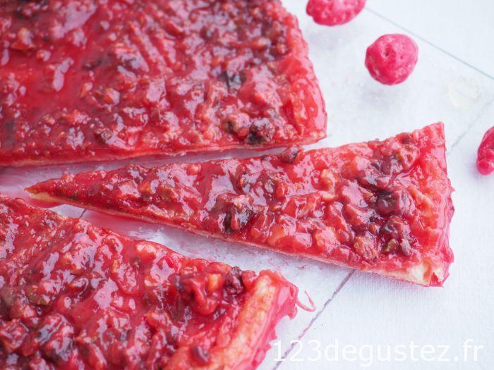 tarte à la praline rose facile