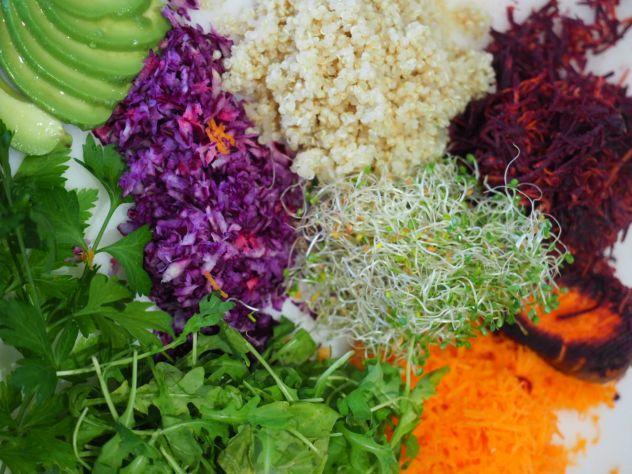 rouleau de printemps végé au quinoa
