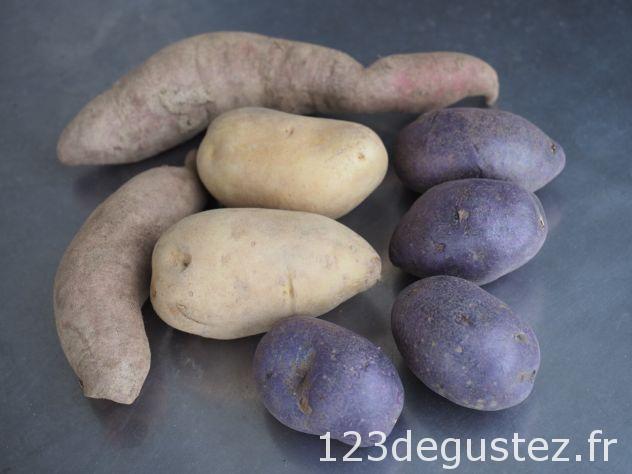 verrines tricolore de pomme de terre