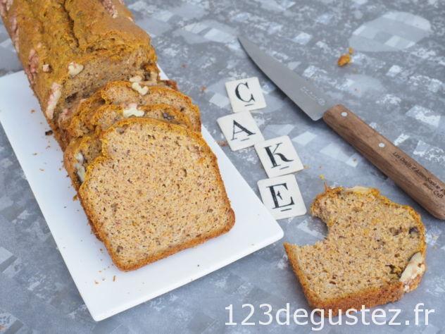 cake facile sans lactose courge et noisette