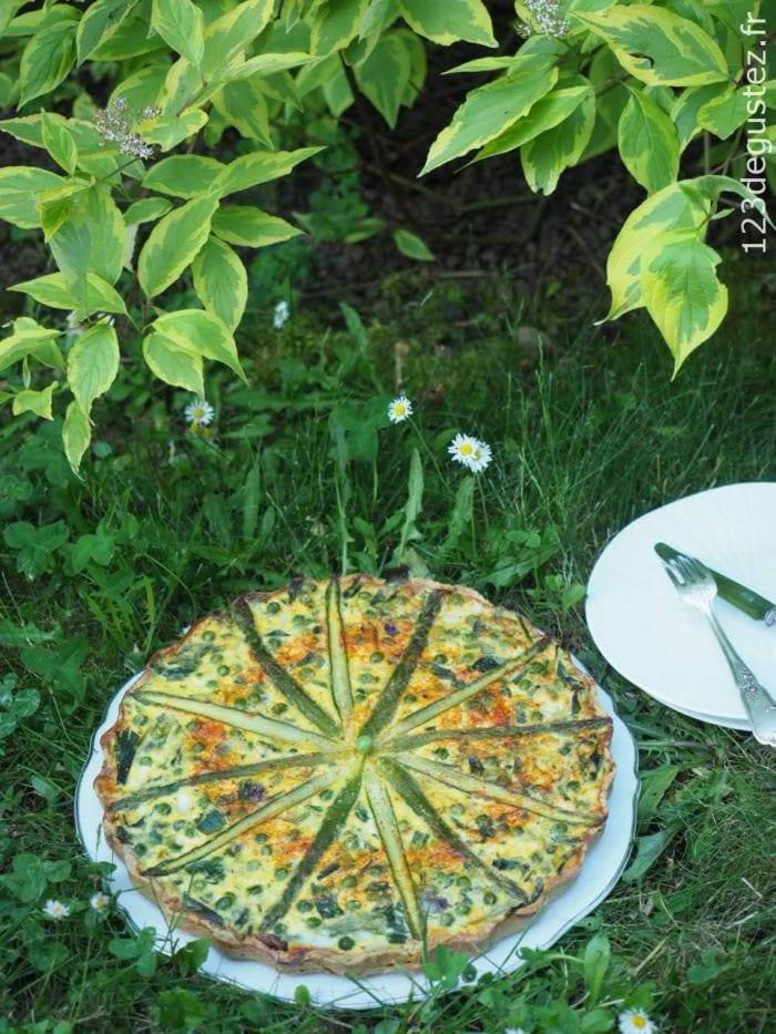 tarte aux légumes de printemps
