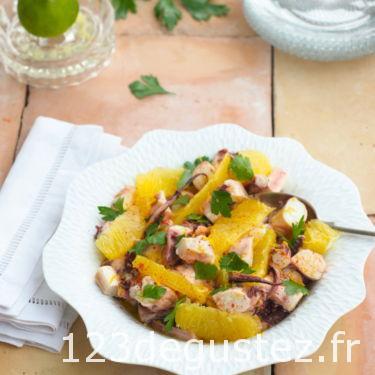 salade de poulpe mariné