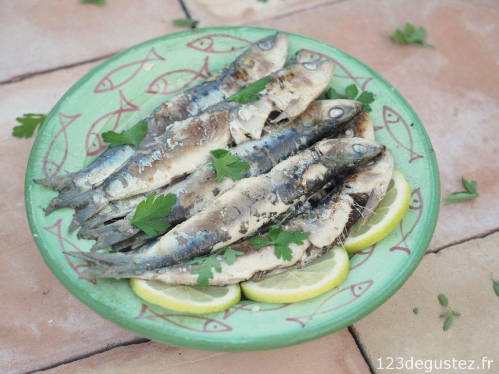 Sardines marinées grillées à la plancha, facile, rapide et légères on
