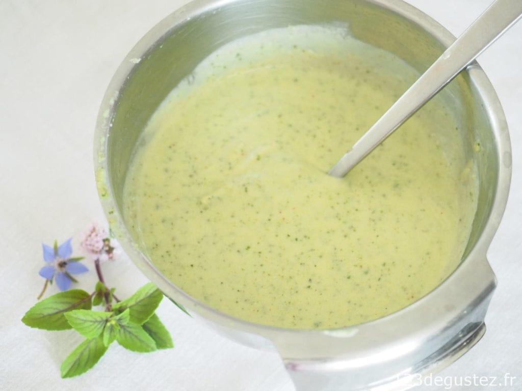 soupe de courgette froide