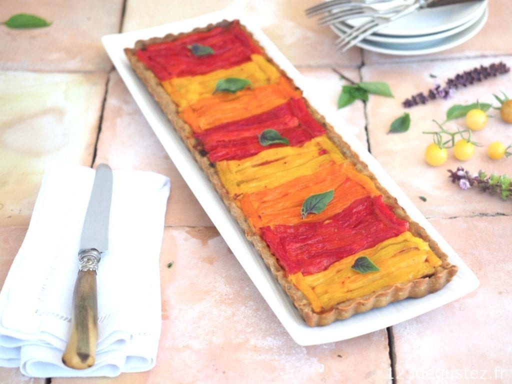tarte aux poivrons