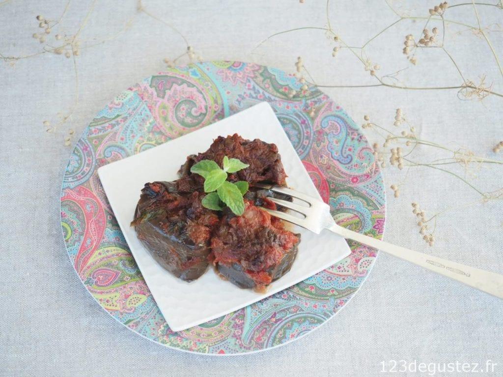 aubergine confite au four