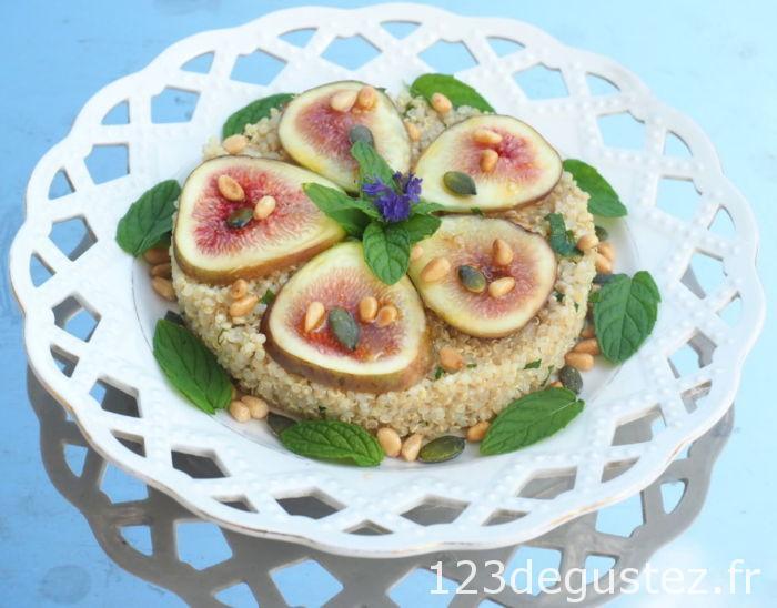 salade quinoa menthe et figues