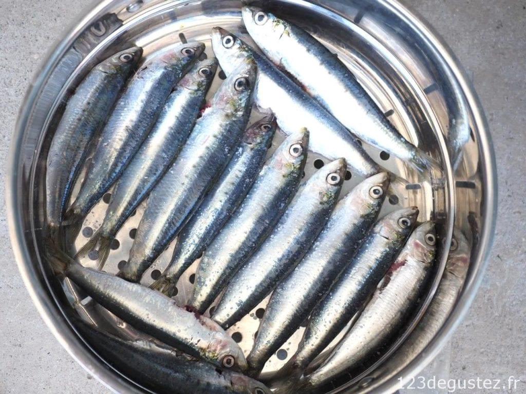cuisson des sardines express