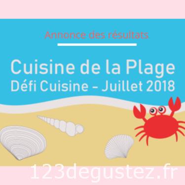 Défi cuisine recette de la plage