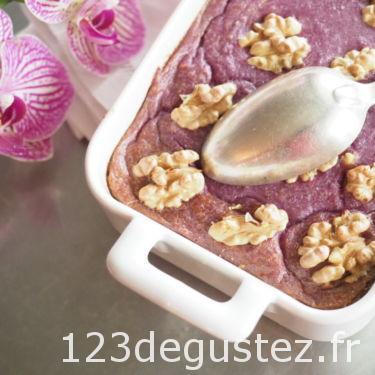 flan de chou-fleur violet
