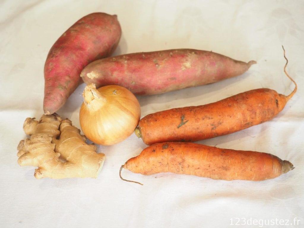 soupe de patate douce au gingembre