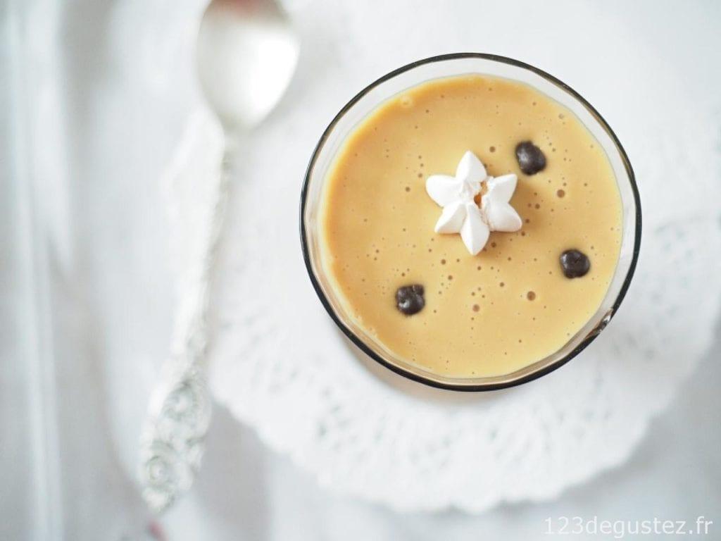 crème anglaise au caramel au lait d'amande