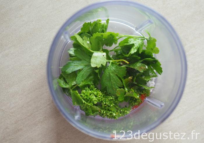 salade oeufs durs à l'oxalis