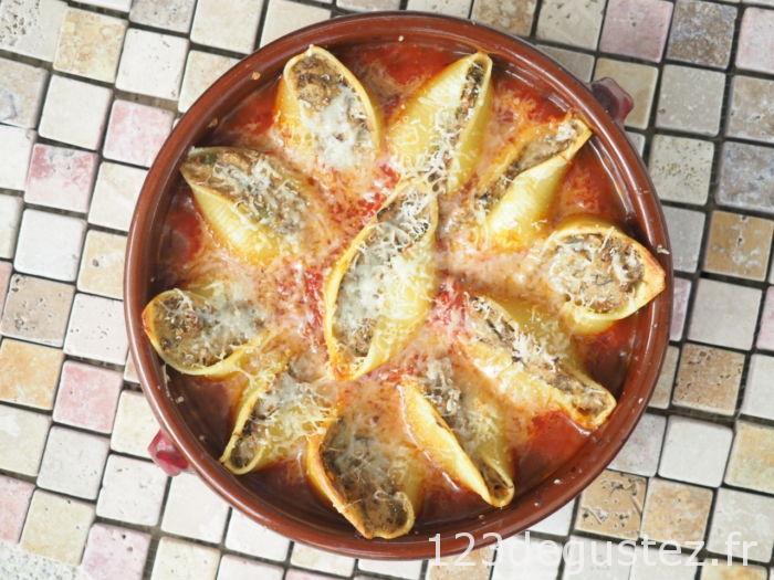 conchiglioni farci aux aubergines