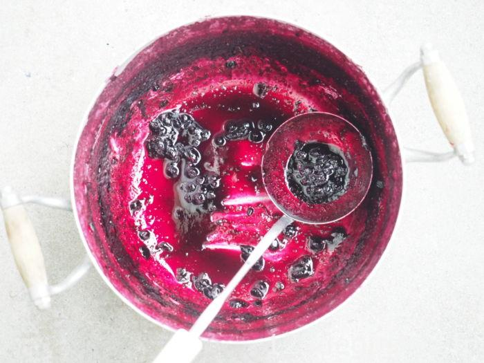 confiture de myrtille à l'agar agar