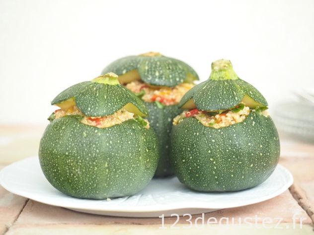 courgette ronde farcie végétarienne