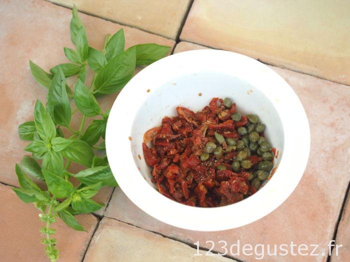 tapenade rouge aux tomates séchées