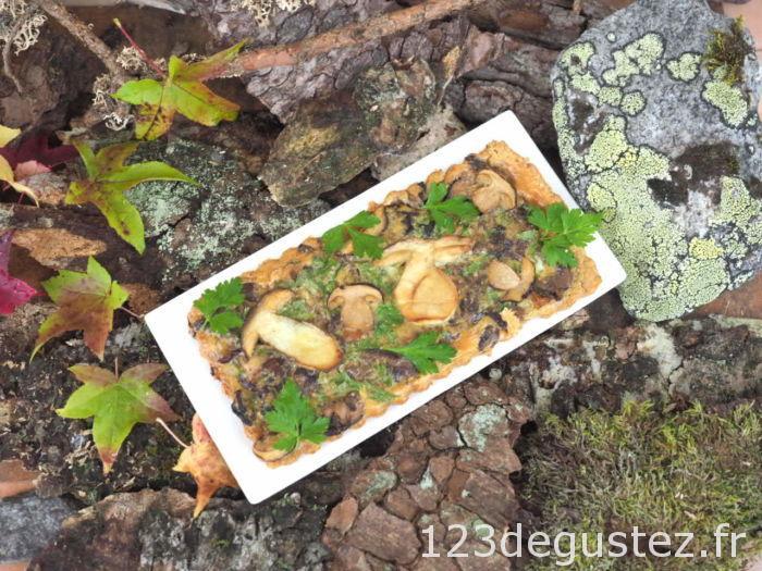 tarte aux champignons des bois