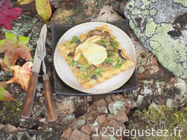 tarte aux champignons des bois