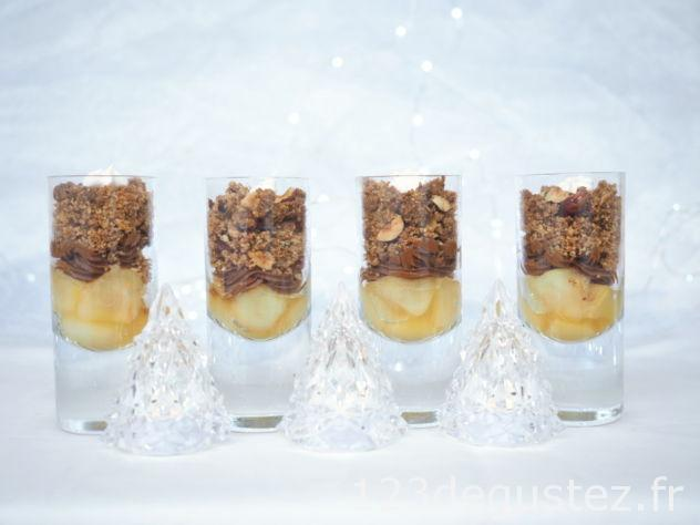 dessert de Noël en verrine