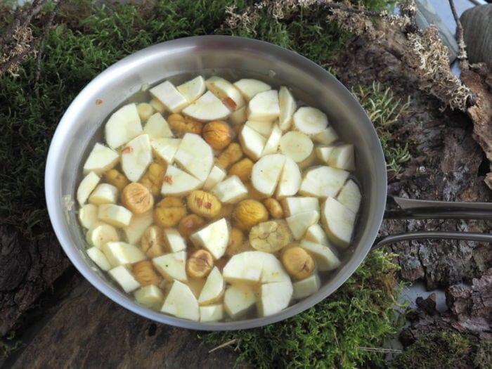 soupe de panais aux châtaignes