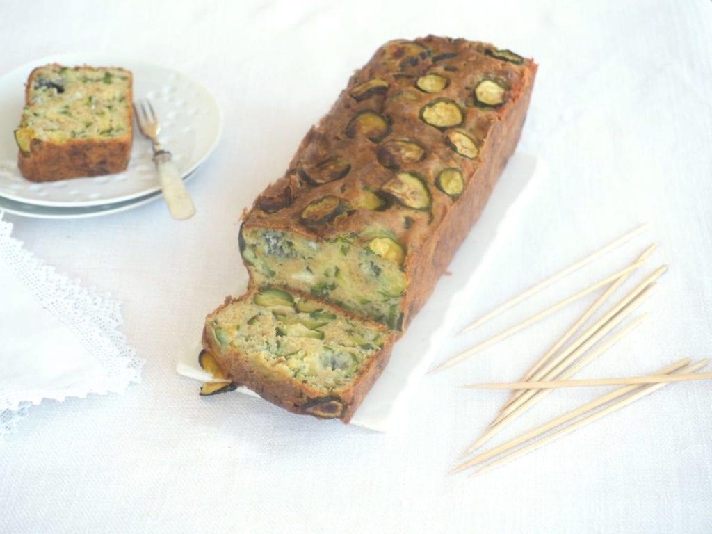cake aux courgettes et roquefort