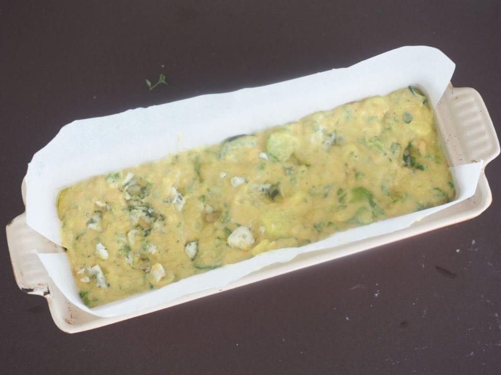 cake aux jaunes d'oeufs et roquefort