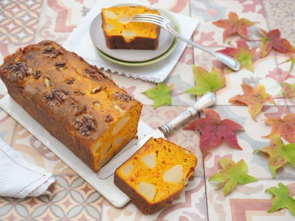 cake potimarron poire et bleu