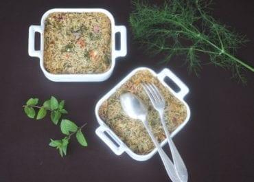 Riz au four aux herbes aromatiques