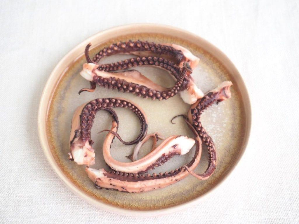 tentacules d'encornet grillés