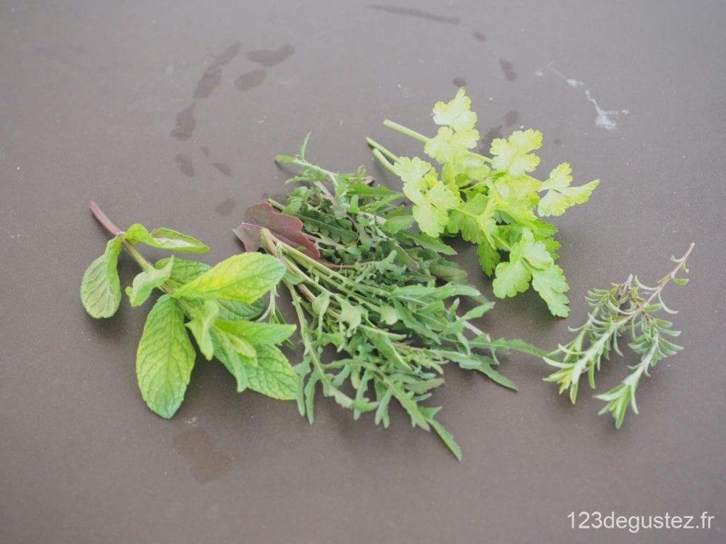 blinis orties et herbes