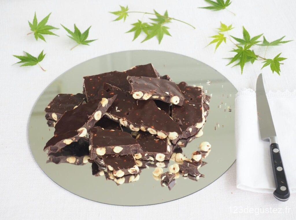 chocolat amer aux noisettes maison