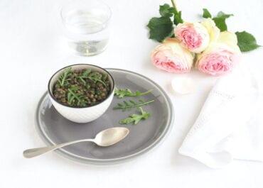 Salade de lentilles sauce roquette